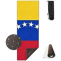 Ymin Alfombrilla de Yoga con diseño de Bandera de Venezuela para Todos los Tipos de Yoga