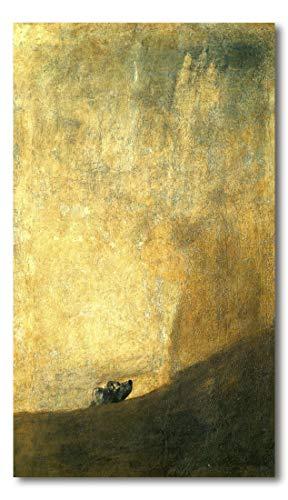 Cuadro Decoratt: El perro - Francisco de Goya 25x43cm. Cuadro de impresión...