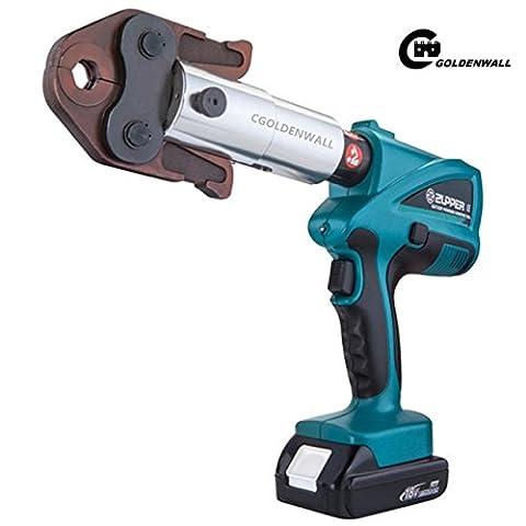 cgoldenwall bz-1528Mini Akku Crimpzange-Crimper Hydraulische Spannwerkzeug Elektrische Akku PEX Werkzeuge Rohr Presswerkzeug mit V15, V18, V22, v28mm für Klempnerarbeiten System