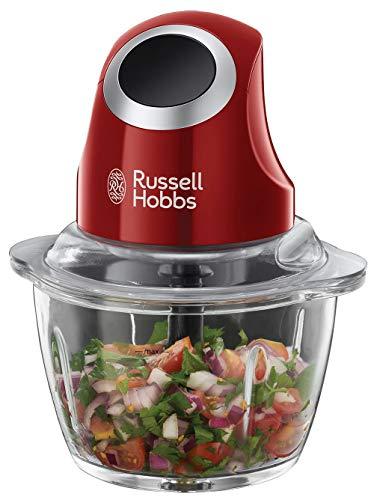 Russell Hobbs Desire - Picadora de Alimentos Picadora Eléctrica, 200 W, Cuchillas Inox, Rojo, sin...