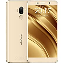 "Ulefone S8 Pro - 4G Smartphone Libre (Android 7.0, 5.3"" HD Pantalla, MT6737 Quad Core 1.3GHz, 2Gb Ram 16GB ROM, Dual Sim, Dual Cámara Trasera 13MP + 5MP)(Oro)"