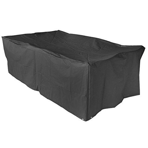 Schutzhülle für Gartenmöbel abdeckhaube gartentisch Abdeckung Gartenmöbel Schutzhülle und Abdeckplane für rechteckige Sitzgarnituren und Gartentisch (213x132x74cm)