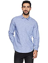 John Miller Men's Checkered Slim Fit Cotton Casual Shirt
