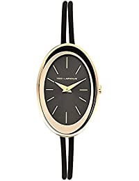 Ted Lapidus - B0225PNIN - Montre Femme - Quartz Analogique - Cadran - Bracelet Cuir Noir