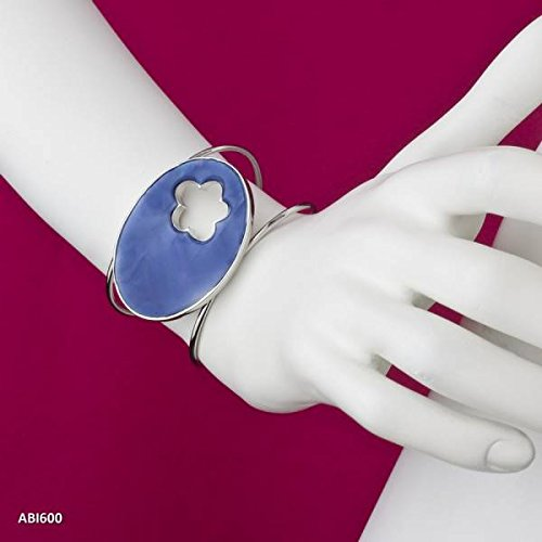 pulsera-shell-flor-azul
