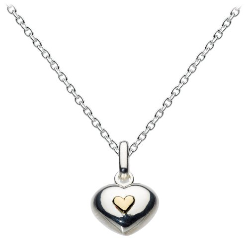dew-sterling-silver-puff-heart-with-mini-gold-heart-pendant-on-necklace-of-457cm