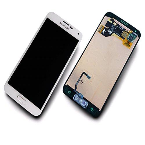 Original Display für Samsung Galaxy S5 (GH97-15734A) Touchscreen, LCD in weiß (Für Samsung Galaxy S5 Weiße Lcd)