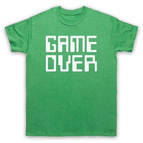 Game Over Hipster Herren T-Shirt Grun