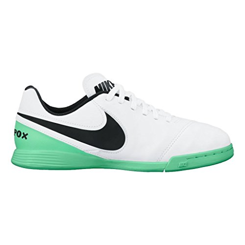 Nike Unisex-Kinder Jr Tiempox Legend Vi Ic Fußballschuhe Mehrfarbig (White/black-electro Green)