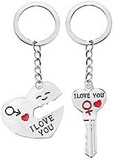 """Schlüssel zum Herzen """" I Love You """" Schlüsselanhänger Schlüsselring für Paare / Geliebte im Set"""