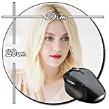Dakota Fanning B Tapis De Souris Ronde Round Mousepad PC
