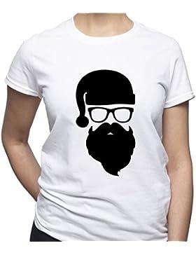 EUGINE DREAM Dude Shirt Hipster Santa Tshirt Funny Santa T Shirt Christmas Camiseta Para Mujer