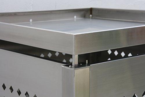 Mülltonnenbox Edelstahl für 2 Mülltonnen (240 l) - 8