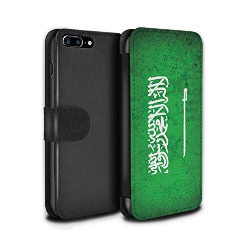 STUFF4 PU-Leder Hülle/Case/Tasche/Cover für Apple iPhone 8 / Georgien/Georgisch Muster / Asien Flagge Kollektion Saudi Arabien/Arabisch