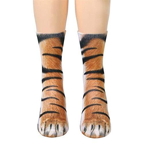 AOLVO Pfote Socks Animal 3D Kleinkind Stance Socks–Weichsten Socken Neuheit Kompression Socken Tiger