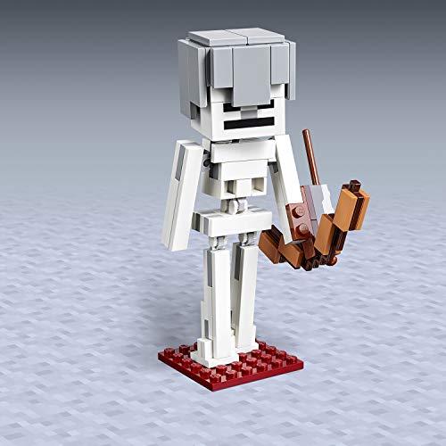 LEGO Minecraft - Bigfigurine Minecraft Squelette avec un cube de magma...