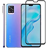 SISCA Tempered Glass Designed for Vivo V20 Pro with Coverage Oleophobic Coating 9h Hardness fast Exhaust with Wet and Dry Wip
