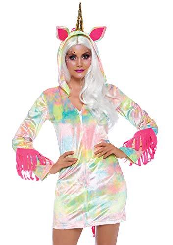 Einhorn Verzauberte Kostüm - Leg Avenue 8672425101 Verzaubertes Einhorn Kleid mit reißverschluss, Damen Karneval Kostüm Fasching, Mehrfarbig, Größe XS (EUR 32)