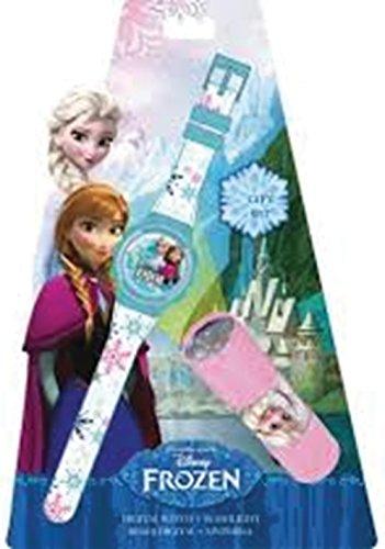 Disney Frozen Reloj y Linterna en Blíster (Kids WD16847)