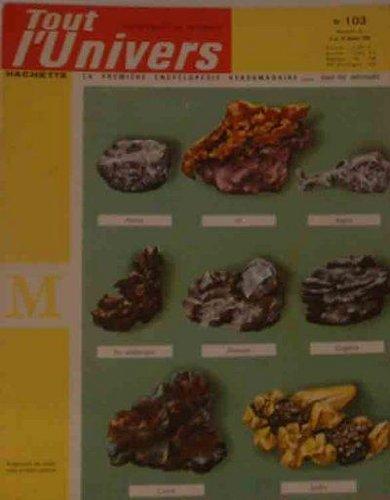 Tout l'univers, n° 103 :  Mineralogie par Collectif
