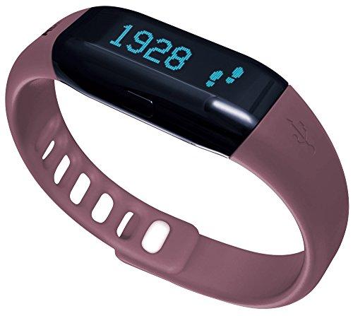 ADE Aktivitätstracker AM 1601 FITvigo. Sportarmband mit mehrfach ausgezeichneter App und vielen Funktionen (Schrittzähler, Kalorienzähler, Schlaftracker). Für Android und iPhone. Beere + Schwarz
