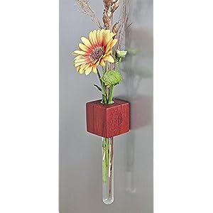 Magnetvase Padouk Blumenvase Test Tube Vase