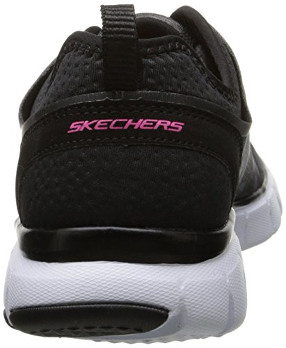Skechers - Skech-flex - Power Player, Sneaker basse Donna Nero (Nero (Black/White))