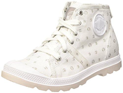 Palladium Pallab Mid Lp K, Baskets Hautes Mixte Enfant Blanc (D25 White/Mouse)