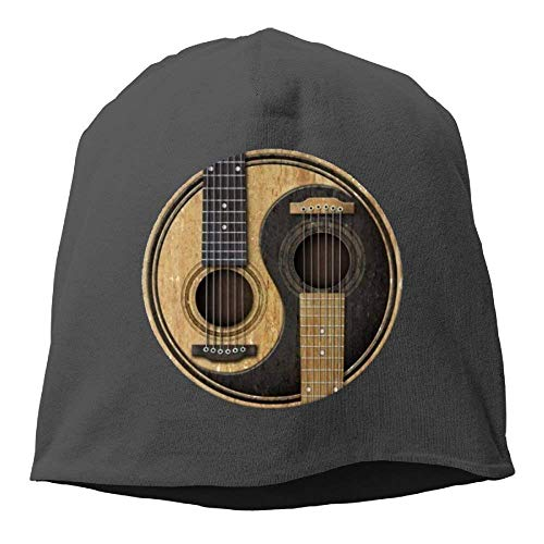 Preisvergleich Produktbild UUOnly Männer warme Mütze Mütze Mode Strickmütze Yin Yang Gitarre
