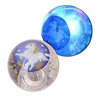 Gem Large Glitter Unicorn Light Up Bouncy Ball Sparkly Kids Sensory Toy ADHD Autism SENS