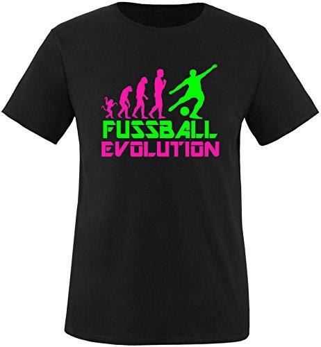 EZYshirt® Fussball Evolution Herren Rundhals T-Shirt Schwarz/Pink/Neongr
