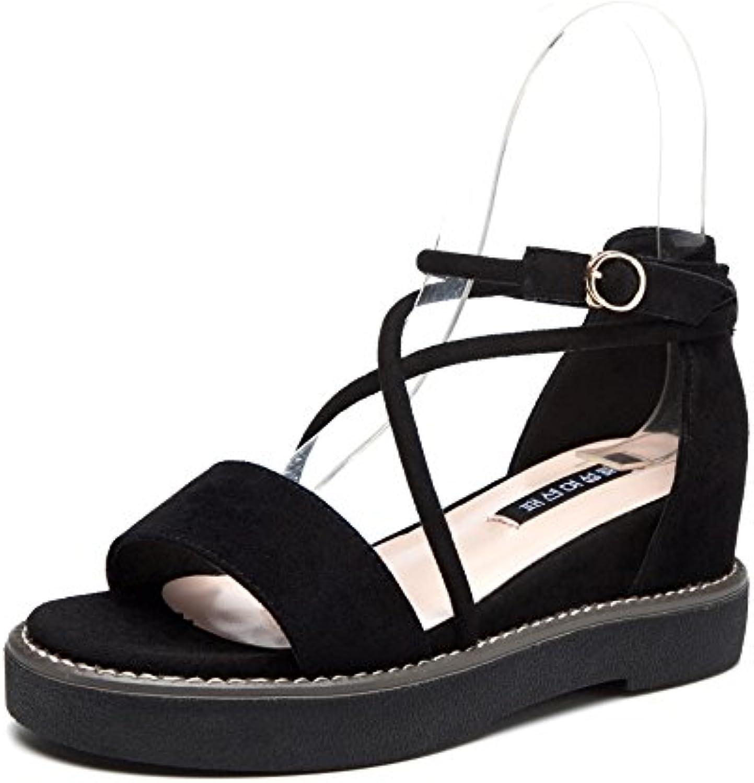 Sandalias y sandalias para mujeres, negras, treinta y cuatro