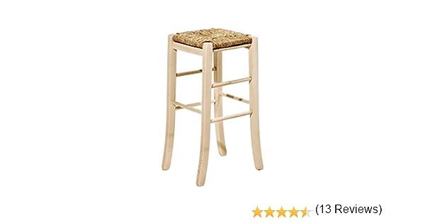 Sedia sgabello in legno grezzo altezza cm da verniciare con