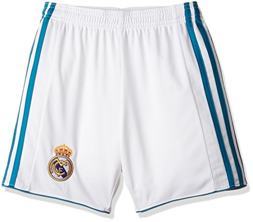 adidas Kinder Replica Real Madrid Heimshorts, White/Vivtea, 140
