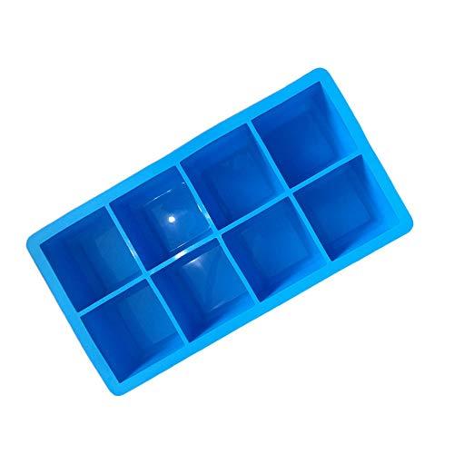 Silikon 8 Grid Big Eiswürfel Puck Cube Square Tray Mould Werkzeug - Einfach zu bedienen und zu...