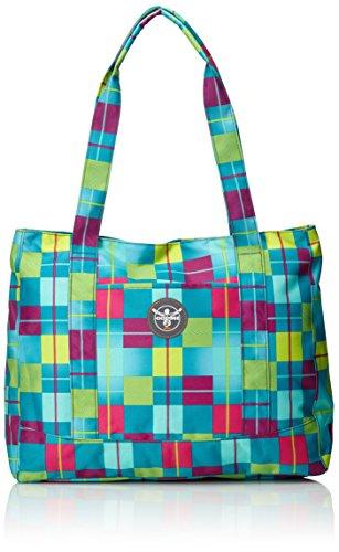 Chiemsee Damen Handtasche Shopper Karo Blue Caba