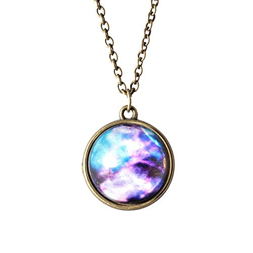 TAOtTAO Necklace Pendant Sonnensystem Halskette Anhänger Planet Halskette Galaxy Double Sided...