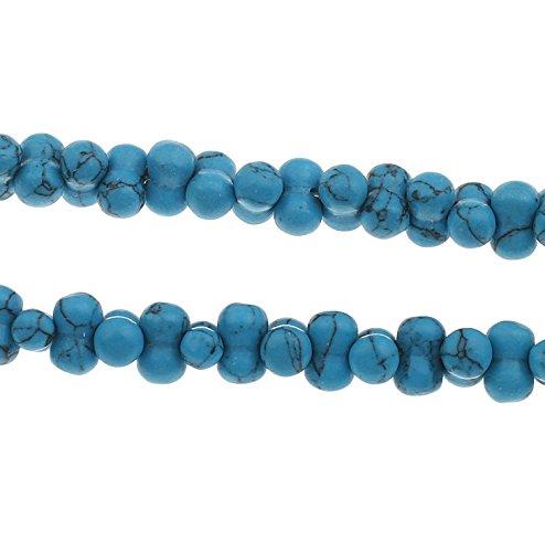 30 t rkis edelstein perlen blau naturstein knochen 10mm f r schmuck g981. Black Bedroom Furniture Sets. Home Design Ideas