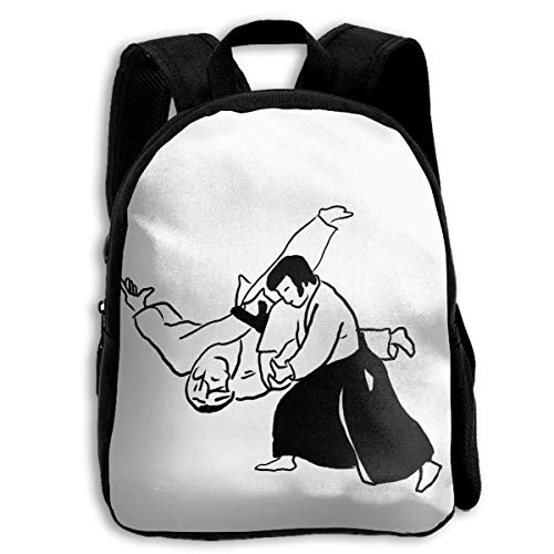 HOJJP Mochila escolar School Season Kids Backpack Travel Gear Daypack,Child Aikido Japanese...
