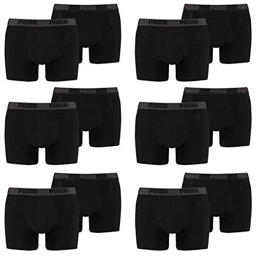 PUMA Herren Boxershorts Unterhosen 521015001 12er Pack , Wäschegröße:XXL;Artikel:Black