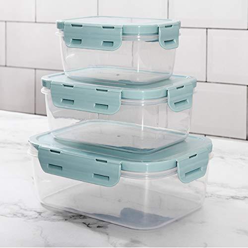 MEIDAY Lebensmittel Container versiegelt Mehrzweck-Knack-Set von 3,Blue