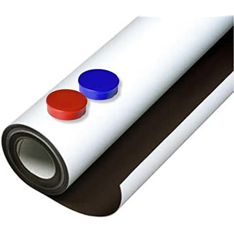Lámina de hierro blanco mate autoadhesiva 0,8mm x 50cm x 100cm - Ideal para la creación de tableros y todo tipo de aplicaciones innovadoras en las que se utilizan imanes