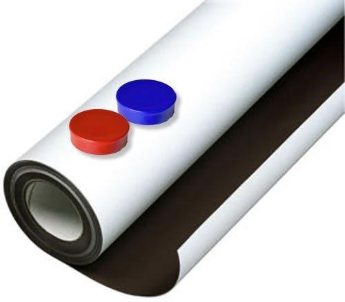 Foglio metallico bianco opaco adhesivo 0,6mm x 1m x 1m - con eccellenti proprietà recettive ai materiali magnetici