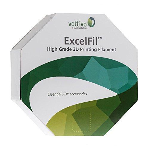 Voltivo ExcelFil 3D Druck Filament, ABS, 3mm - grau