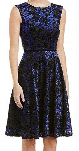 Tahari by ASL Women's Velvet Shimmer A-Line Dress