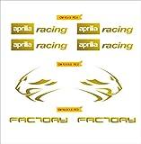 Adesivi Stickers Aprilia Racing Factory Leone Kit 08 Pezzi -Scegli Colore- Moto Motorbike cod.0118 (Oro cod. 091)