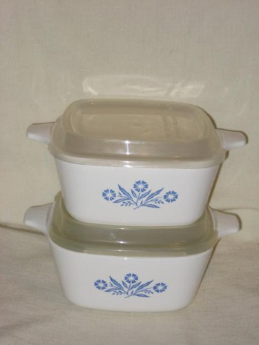 2-pair-of-corning-ware-cornflower-corn-flower-22-ounce-casseroles-w-plastic-lids-p-43-b-usa-by-corni