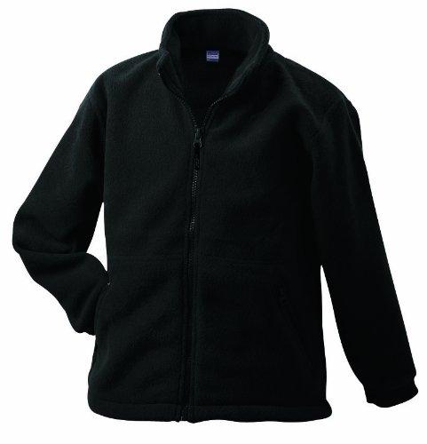 James & Nicholson Herren Full-Zip-Fleece Jacke, (schwarz Black), Large Zip Fleece Schwarz