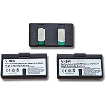 3 Baterías Ni-MH vhbw 60mAh (2.4V) para auriculares Sennheiser S180, Audioport A1, HDI 92P, HDI 1029 como BA-90, BA90, E60, E-60, E90, E-90.