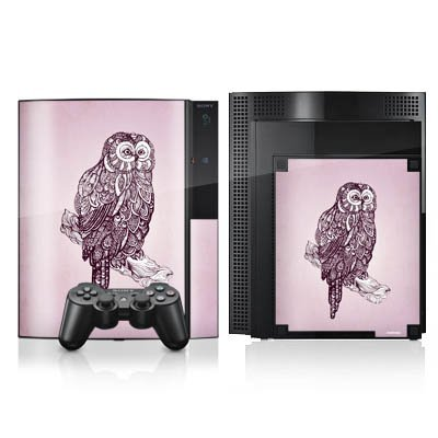 sony-playstation-3-3-skin-vinyl-skin-stickers-protective-film-double-sided-ornamental-owl